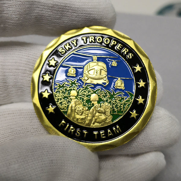 Sky Troopers Frist Team First Cavalry Division Patron Saint Challenge Coin