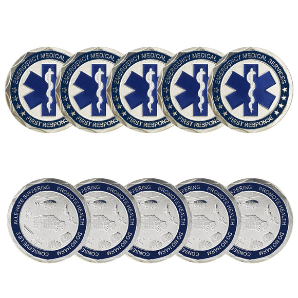 10PCS Emergency Medical Services First Response Patron Saint Challenge Coin
