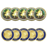 10PCS Put On The Whole Armor Of God of Navy Patron Saint Challenge Coin
