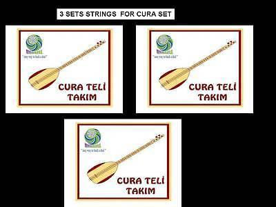 3 x STRING SET FOR TURKISH STRING SMALL SIZE CURA SAZ NEW !!!!!! - unosell music instruments