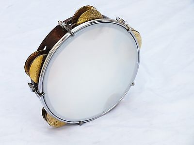 UNOSELL ::   TEF TAMBOURINE RIQ  MARINE w /  PUNCHED CYMBALS NEW !!!!!!!!!!!!!!! - unosell music instruments