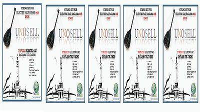 UNO:: 5 X STRINGS SET FOR TURKISH STRING INSTRUMENT LONG NECK ELECTRO SAZ 0.20MM - unosell music instruments