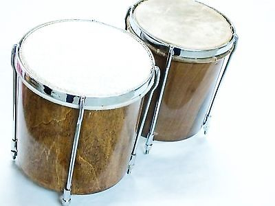 WALNUT WOOD TURKISH MADE PERCUSSION HANDMADE  BONGO WITH GIGBAG NEW !!!!!!! - unosell music instruments
