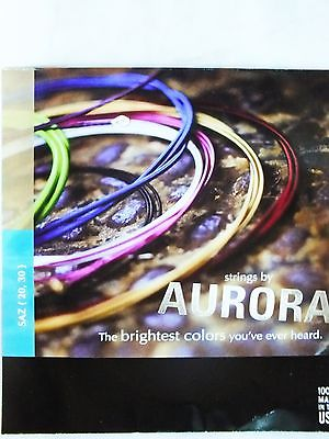 AURORA :: STRING SET FOR TURKISH STRING INSTRUMENT LONG NECK BAGLAMA 0.20MM - unosell music instruments