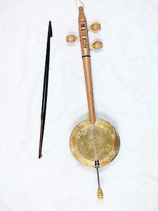 KURDISH STRING INSTRUMENT QUALITY WALNUT CARVED REBAB RUBAB  w/ A BOW - BAG !! - unosell music instruments