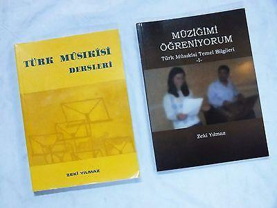 2 BOOKS BY ZEKI YILMAZ  BASIC OF TURKISH MUSIC AND LEARNING OF TURK MUSICS - unosell music instruments