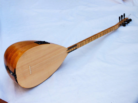 JASON:: TURKISH ACOUSTIC LONG NECK ORGANIC SAZ BAGLAMA W/ EQUALIZER !!!!! - unosell music instruments