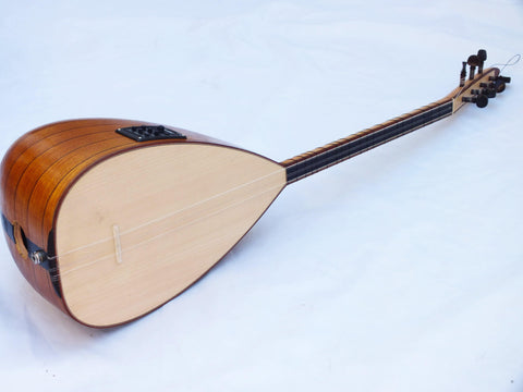 HALO:: TURKISH ACOUSTIC SHORT NECK ORGANIC SAZ BAGLAMA W/ EQUALIZER !!!!! - unosell music instruments