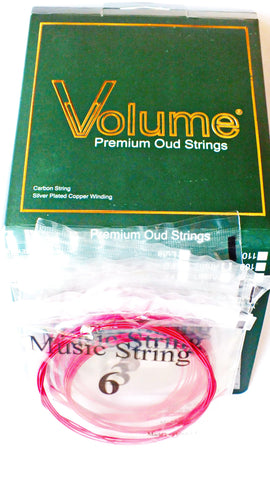 Premium Carbon PVF RED Color  String Set for  ARAB Oud