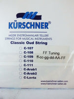 PREMIUN CARBON PVF  OUD STRINGS FOR ARAB OUD  F-F TUNE KURSCHNER - unosell music instruments