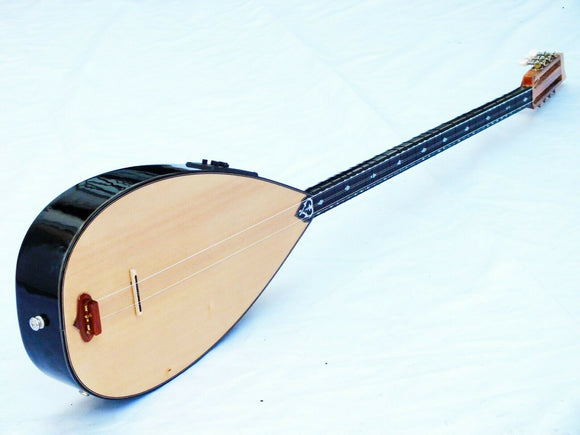 FAZ :: HALF CUT ELECTRO ACOUSTIC LONG NECK BAGLAMA SAZ W/ EQUALIZER - unosell music instruments