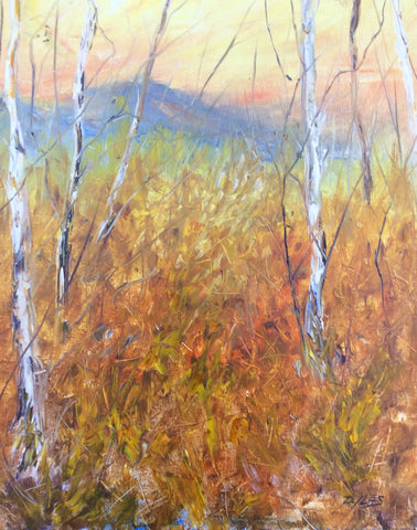 Aspens In The Fall - Dave E. Iles Fine Art Original landscape oil paintings