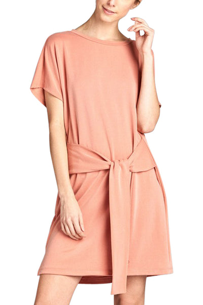 Tie Front Sweatshirt Dress