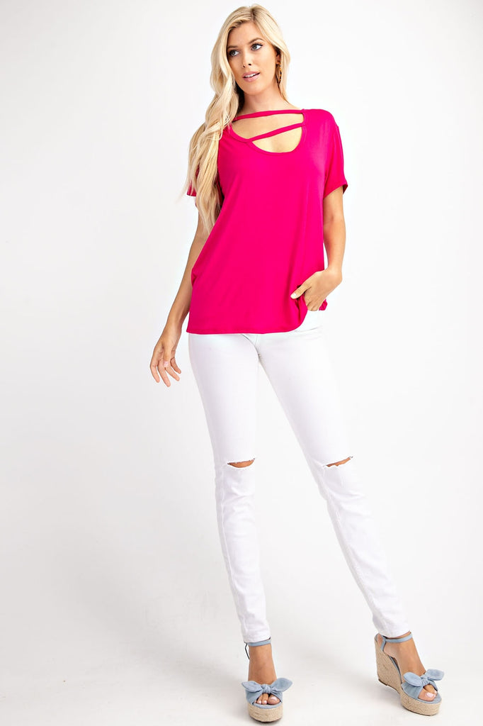 Double Cut Out Detail Top
