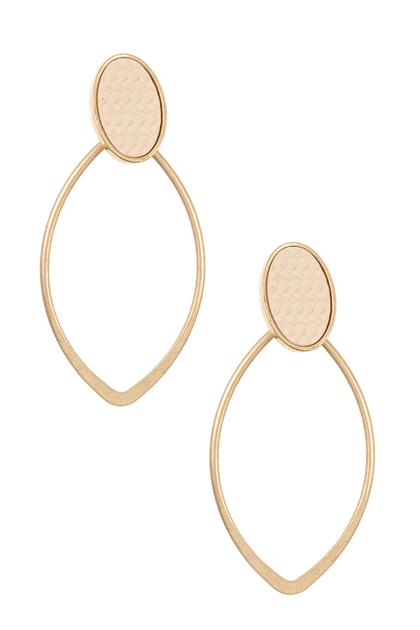Pointed Oval Earrings