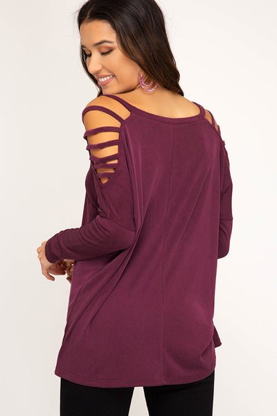 Strappy Sleeve Detail Top