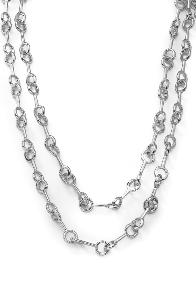 Double Layer Bar Chain Design Necklace