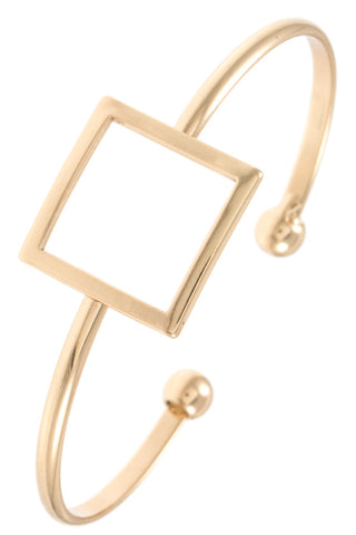 Square Cut out Cuff Bracelet