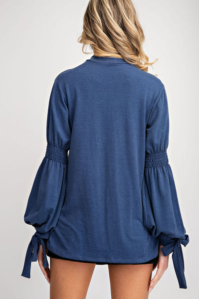 Mock Neck with Cut Out Top