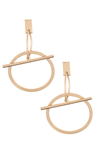 Ring Bar Dangle Earring