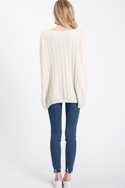 Textured Chenille Oversized Sweater