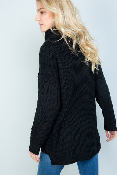 Keyhole Turtleneck Sweater