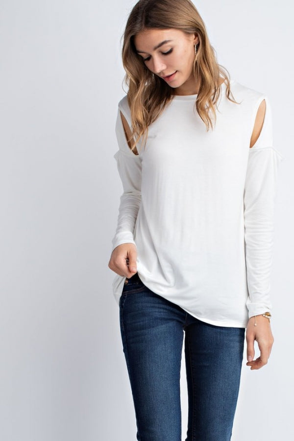 Cut Out Sleeve Detail Top