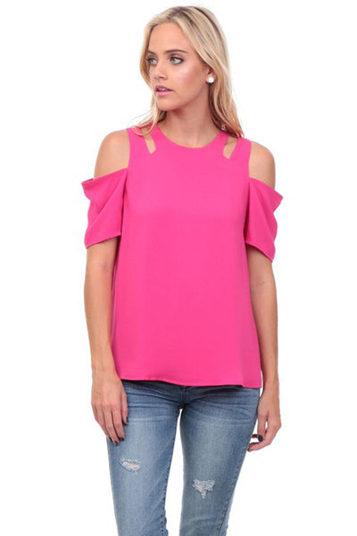 Cut-out Cold Shoulder Top