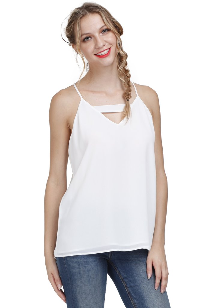 Cut Out  Spaghetti Strap Top