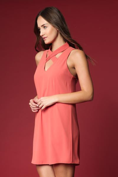 Crisscross Neck Dress