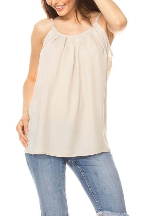 High Neck Flowy Top