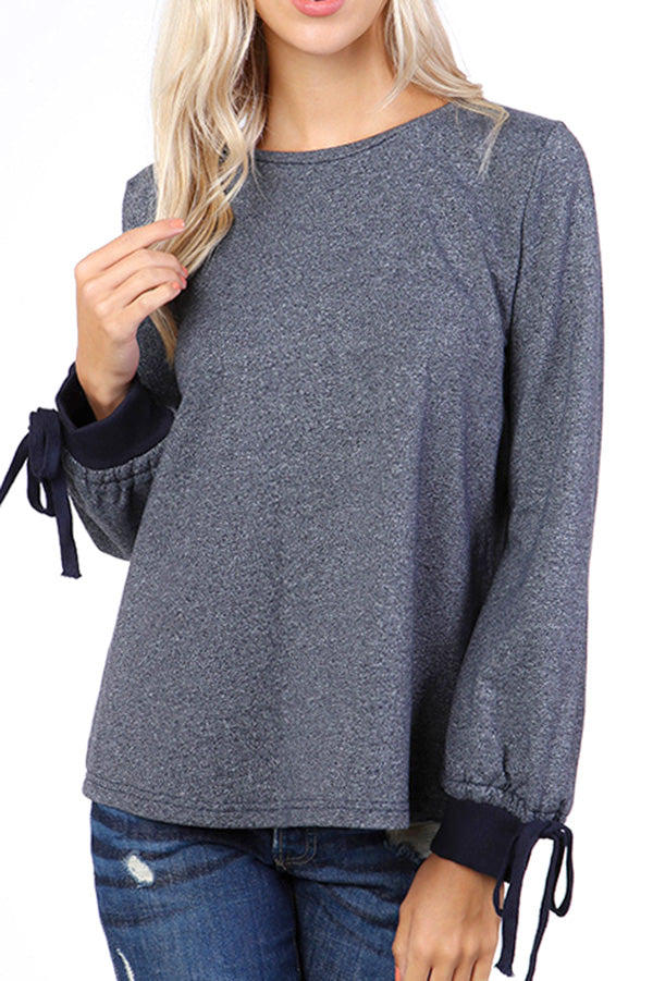 Tie Detail Sweatshirt Top