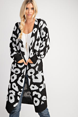 Animal Print Long Cardigan