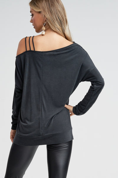 Off the Shoulder Top with Strappy Detail