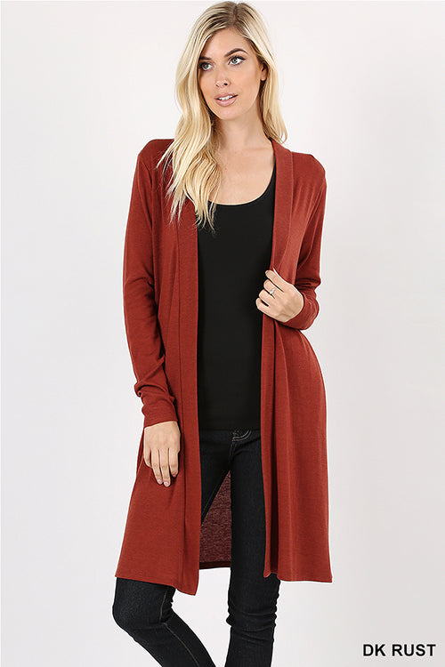 Midi Cardigan with Pockets