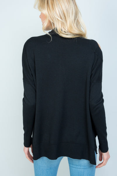 Ribbed Mock Turtleneck