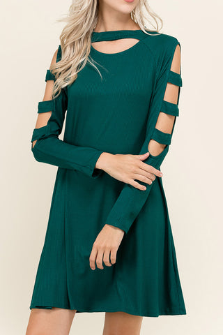 Cutout Sleeve and Neckline Dress