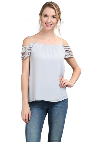 Cold Shoulder Top with Cut-out Detail
