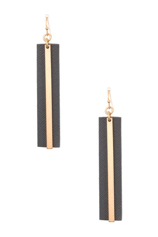 Faux Leather Drop Dangle Earrings