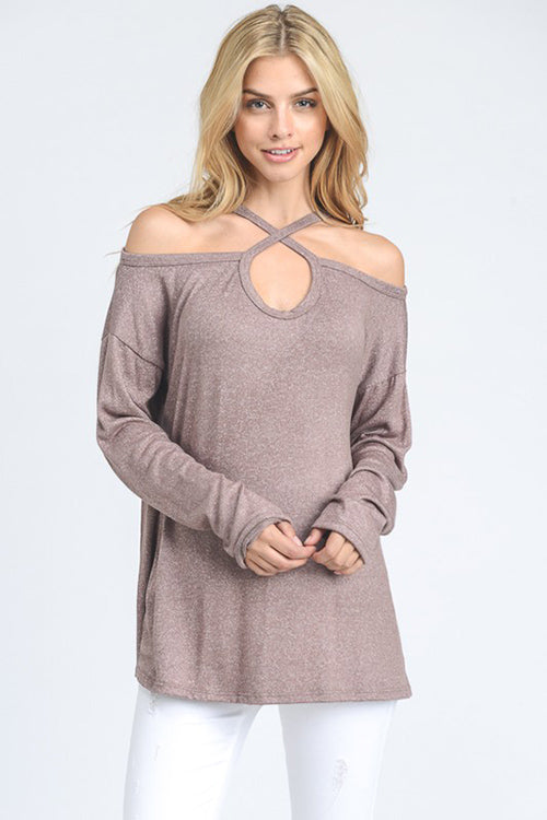 Crisscross Off the Shoulder Top