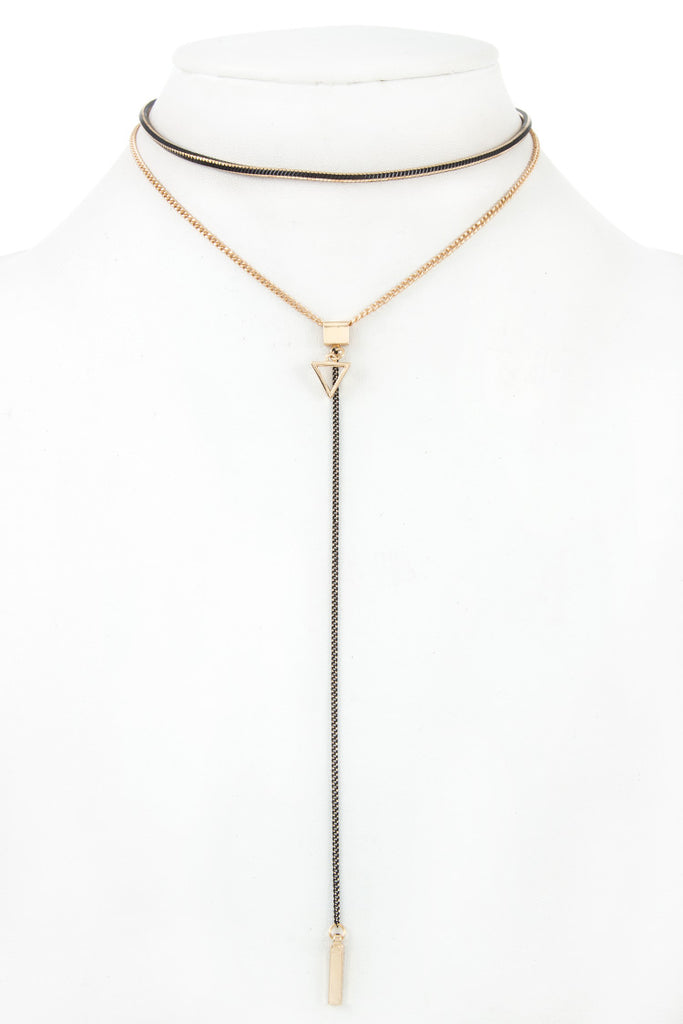 Mix Drop Pendant Choker Necklace