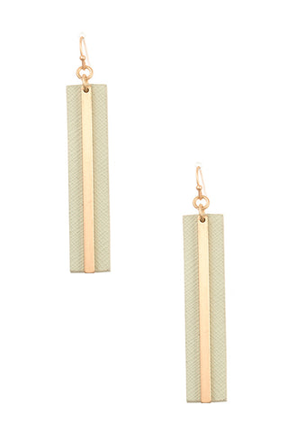 Faux Leather Drop Dangle Earring
