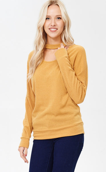Cutout Choker Detail Sweater