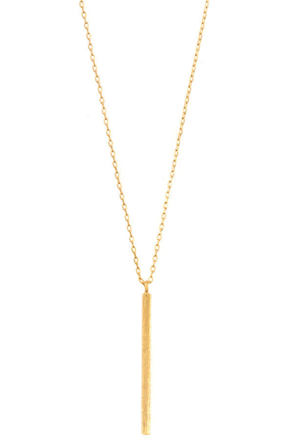 Drop Bar Pendant Necklace