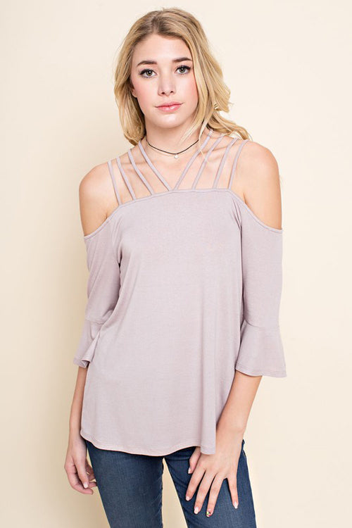 Open Shoulder Strappy Detail Top