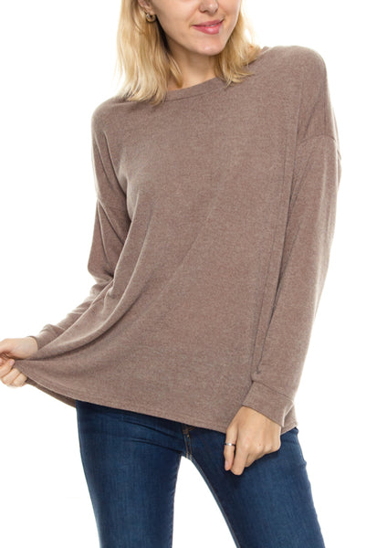 Cut Out Back Long Sleeve Top