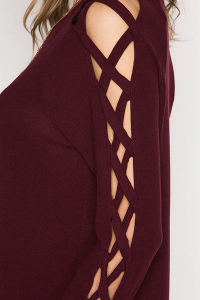 Strappy X Cut Out Detail Top
