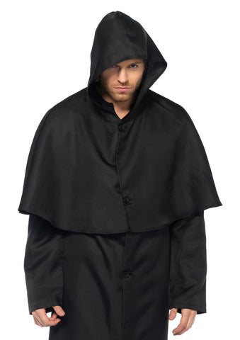 Hooded Button Front Cloak - worldclasscostumes
