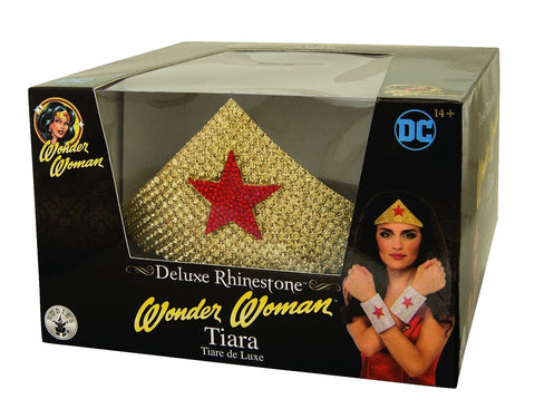 Wonder Woman Gold Rhinestone Tiara - worldclasscostumes