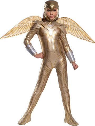 Kids Gold Armored Wonder Woman Costume - Wonder Woman 1984